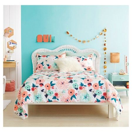 Multi Floral Printed Comforter Set Twin Twin Extra Long