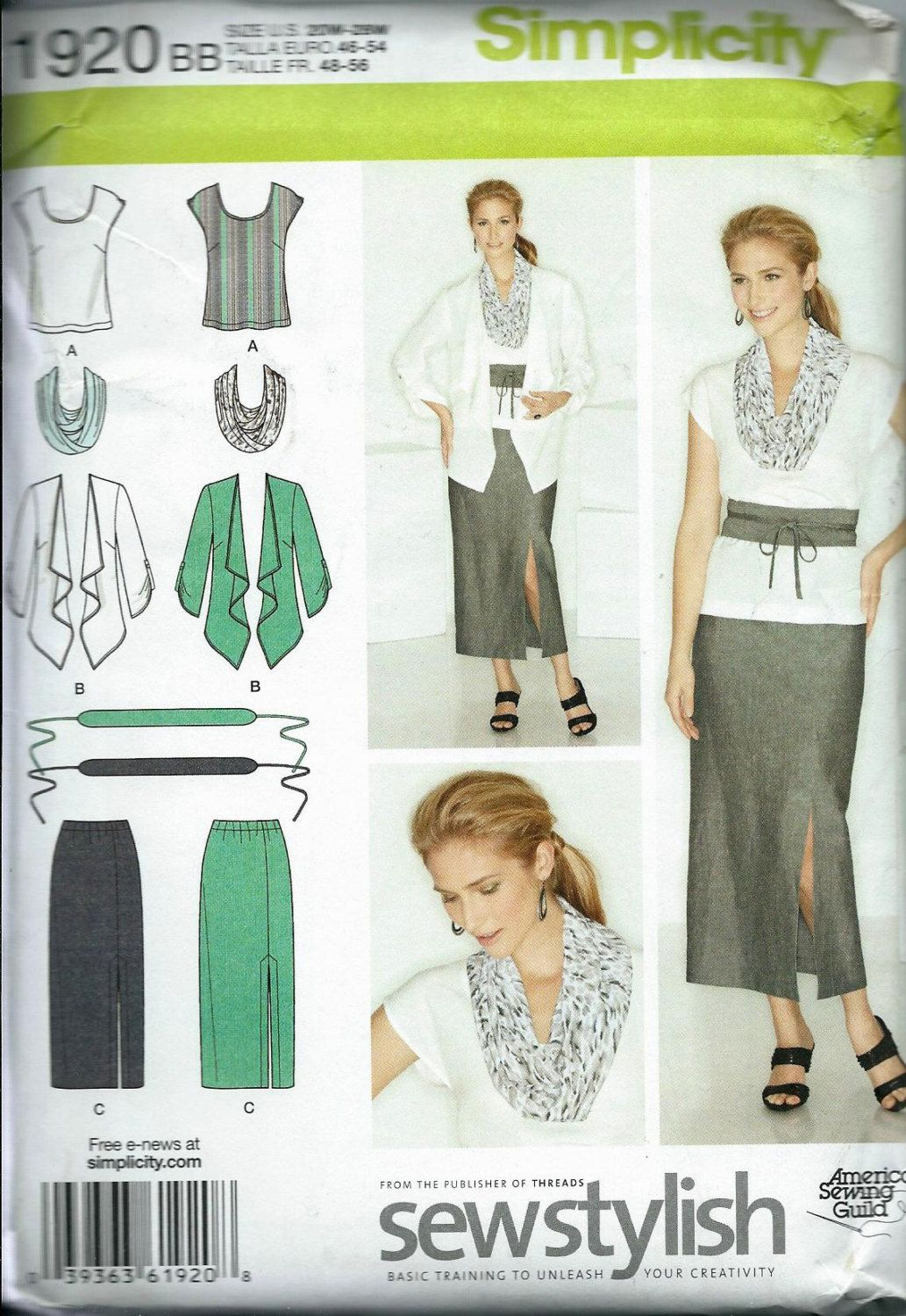 Simplicity 2058 Amazing Fit Collection Women\'s Skirt, Slim, Average ...