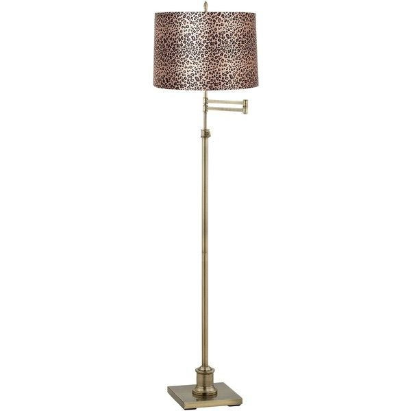 Great Universal Lighting And Decor Westbury Leopard Print Shade Brass Swing...  (245 CAD Design Inspirations