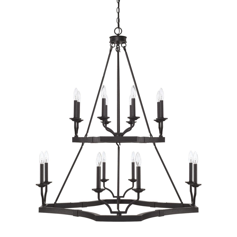 Capital Lighting Fixture Company Ravenwood Black Iron 16 Light Chandelier On