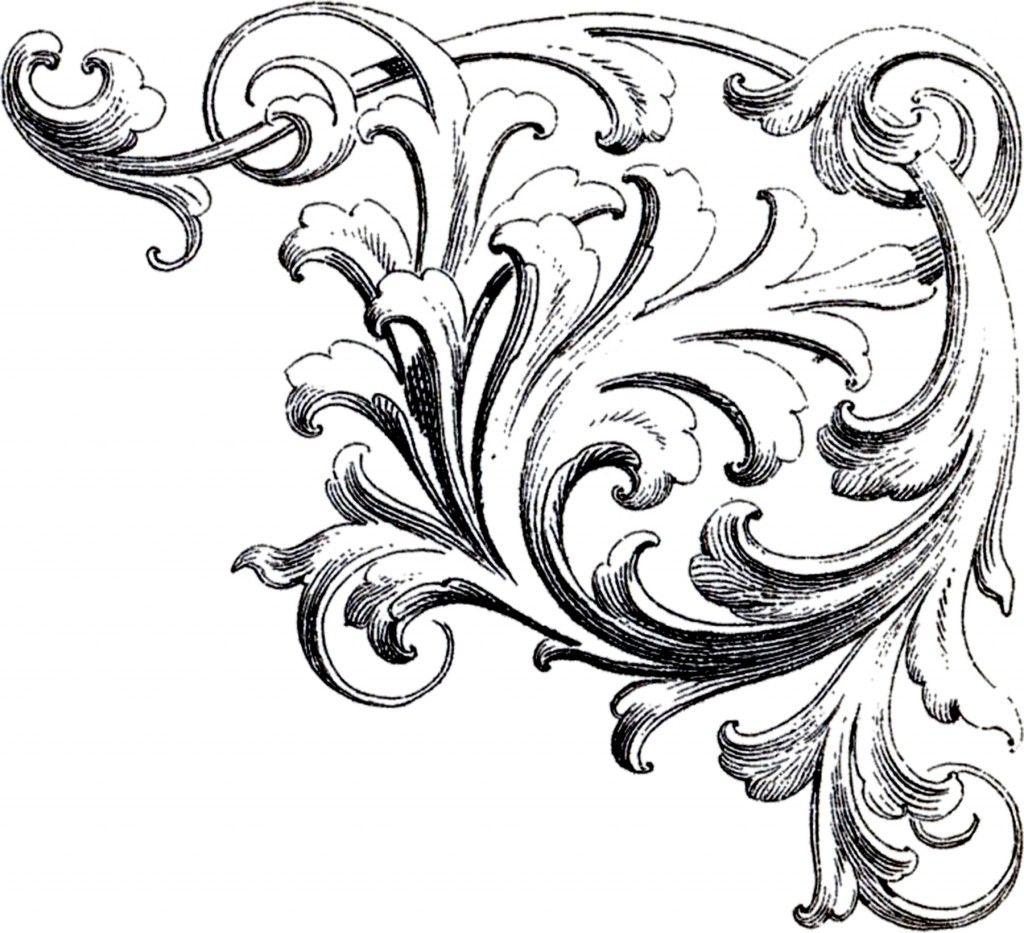 10 Free Corner Designs Ornament Drawing Ornaments Image Baroque Ornament