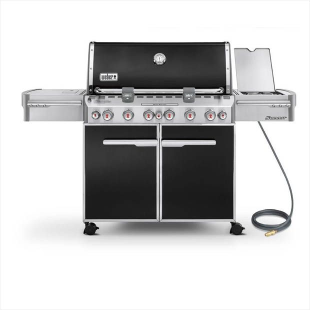 Weber Summit E 670 6 Burner Natural Gas Grill In Black With Built In Thermometer And Rotisserie 7471001