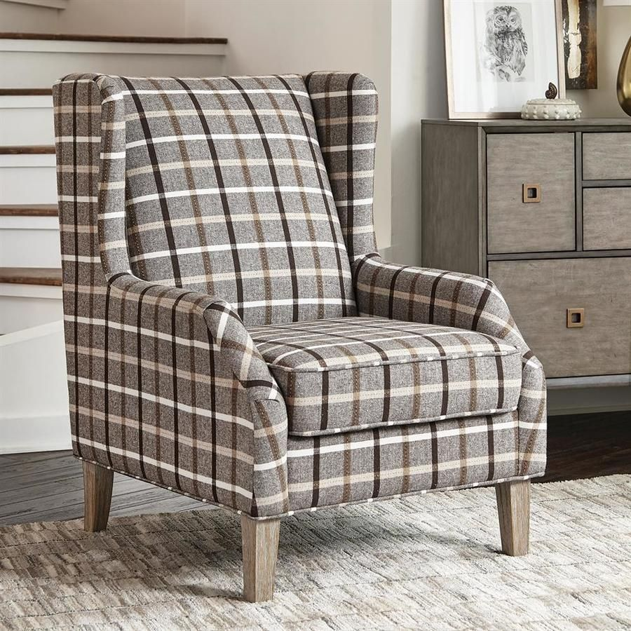 Scott Living Accents Farmhouse Neutral Browns Accent Chair 904052