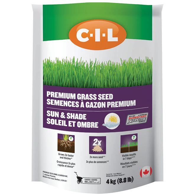 C I L Premium Grass Seed Sun And Shade 8 8 Lb Rona Grass