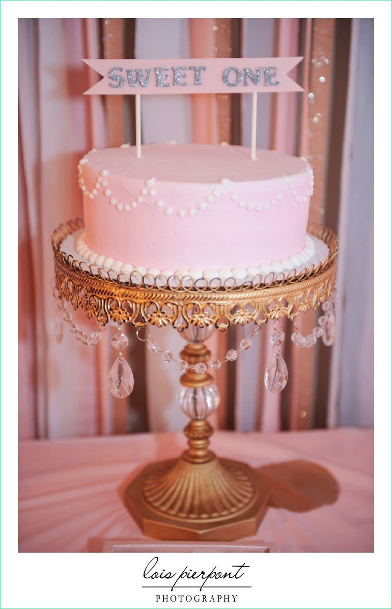 keira u0026 39 s 1st birthday cake  party first birthday girl pink