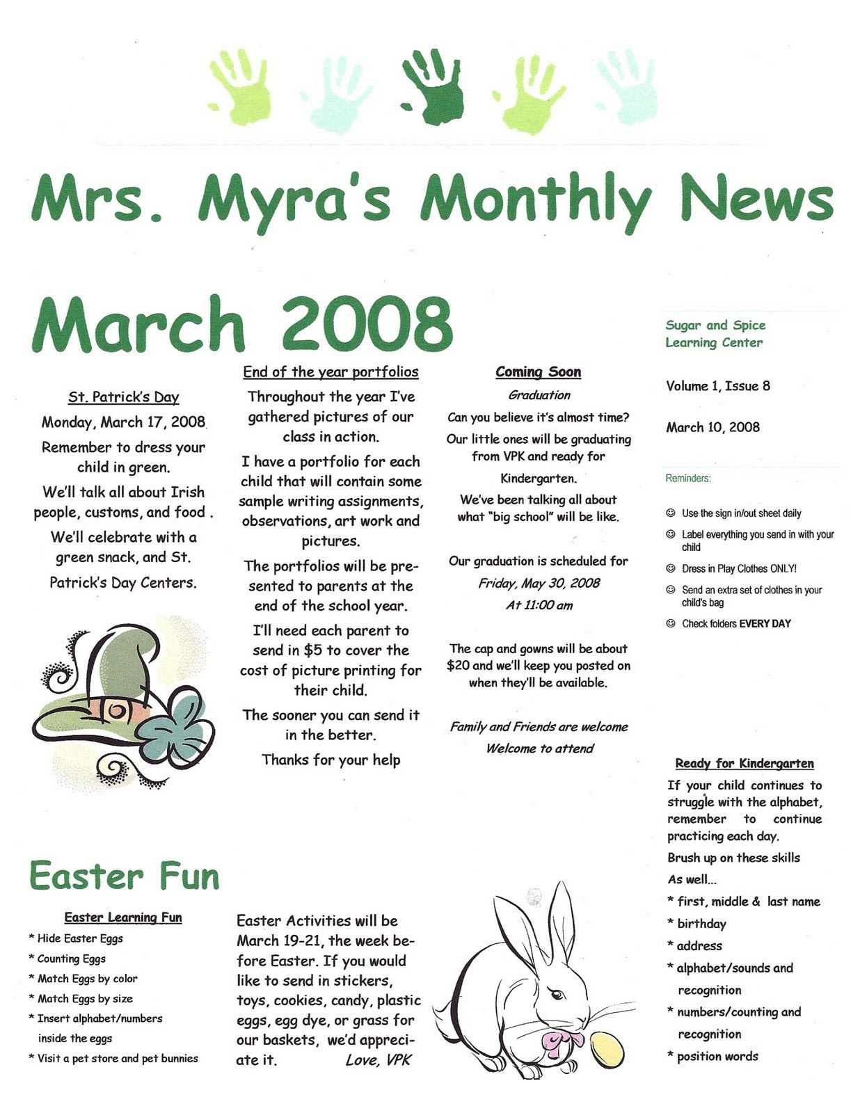 newsletter for daycare - Khafre