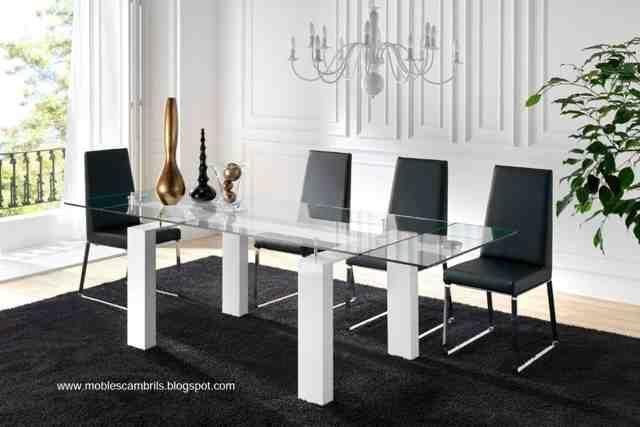 Mesa de cristal extensible por MOBLES CAMBRILS | MUEBLES DE COMEDOR ...