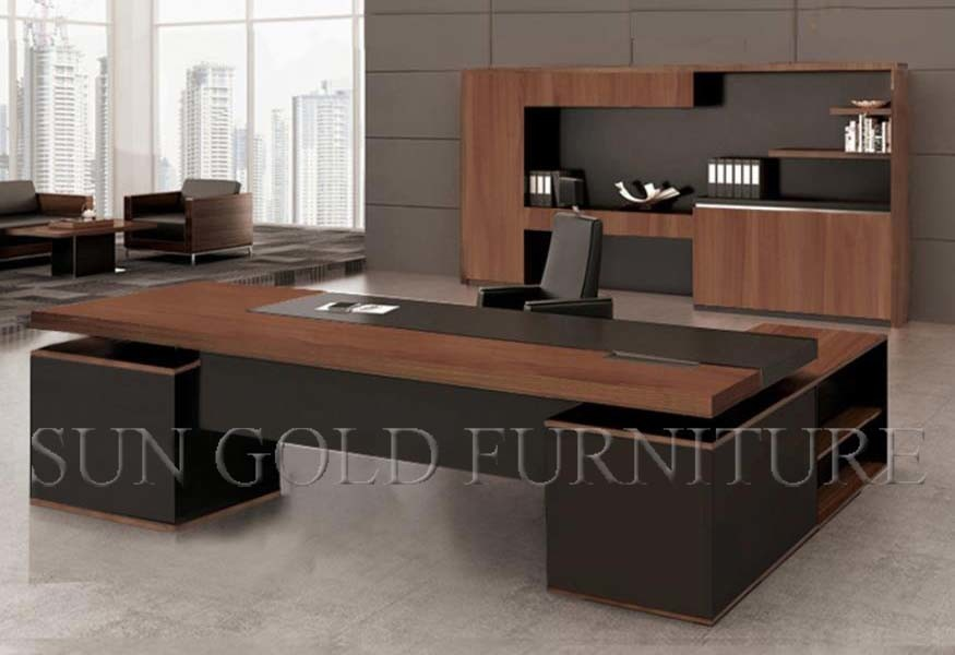 China Office Desk With Wood Veneer Skin Mdf Executive Desk Sz Od532 Photos Pictures Office Furniture Modern Office Furniture Design Office Interior Design