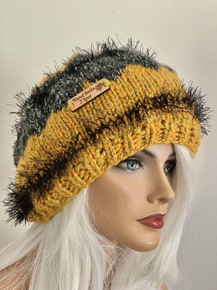 ea51ee89d8638 Hand Knits 2 Love Hat Besnue Cap Slouch Designer Fair-Isle Hip Chic Gift  Women