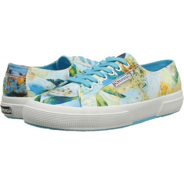 Womens Shoes Superga 2750 Fabric Bahamas Tropical Azul/Multi