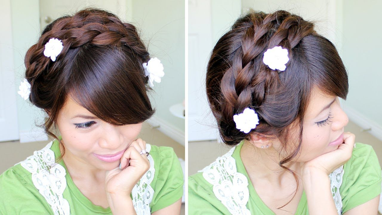 Summer milkmaid braided updo hairstyle for medium long hair tutorial summer milkmaid braided updo hairstyle for medium long hair tutorial this is it this solutioingenieria Gallery