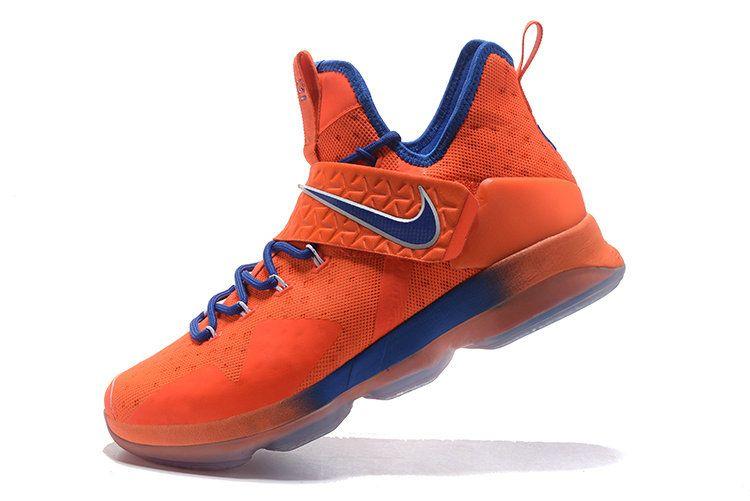 Latest LBJ Sneakers Cheap Nike LeBron 14 XIV Hardwood Classics PE Max  Orange Blue