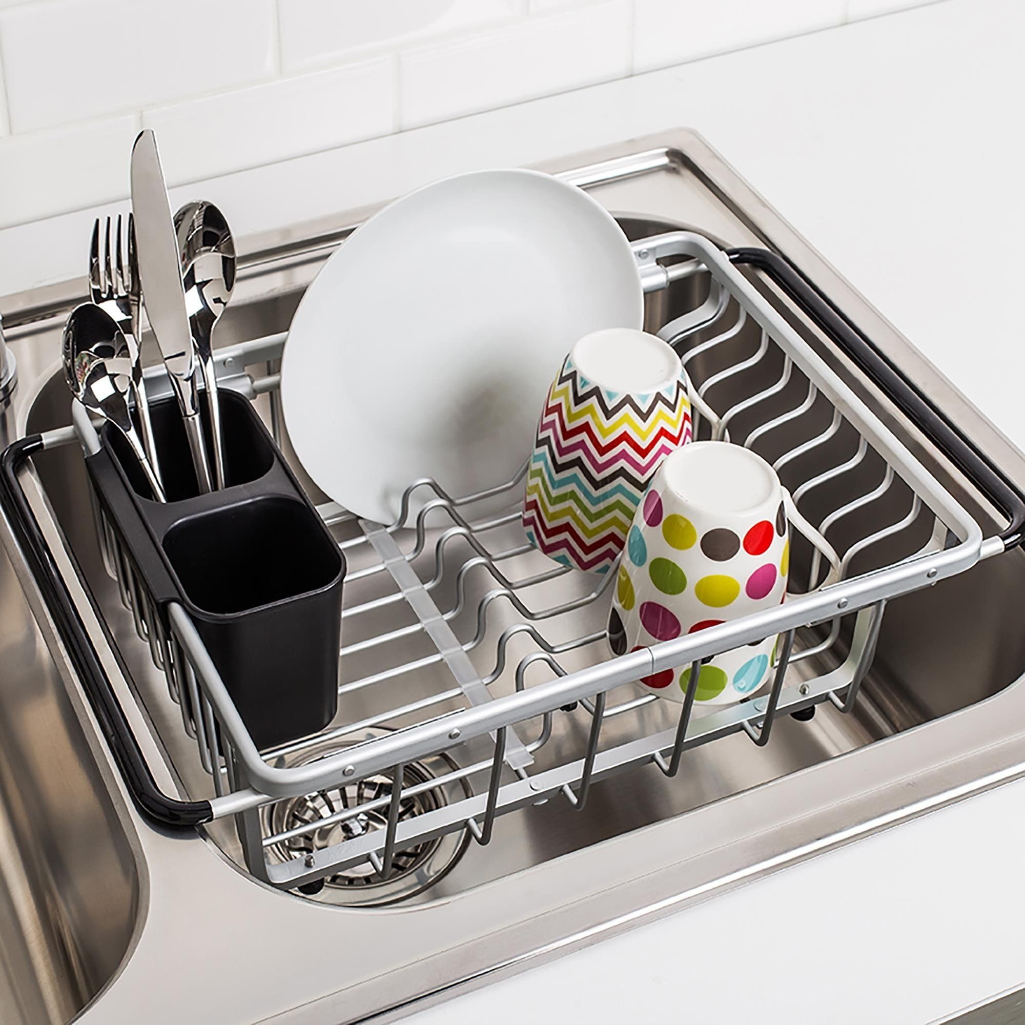 Ksp Avanti Over Sink Dish Rack Aluminum With Images Sink