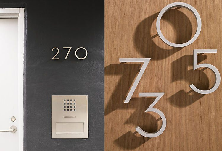Richard Neutra aluminum house numbers DWR exterior house | Graphic ...