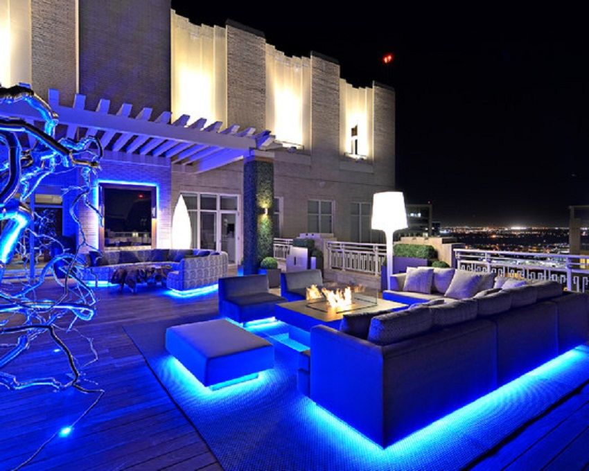 Blue led strip lighting for outdoor living room decor bloomberg blue led strip lighting for outdoor living room decor mozeypictures Choice Image