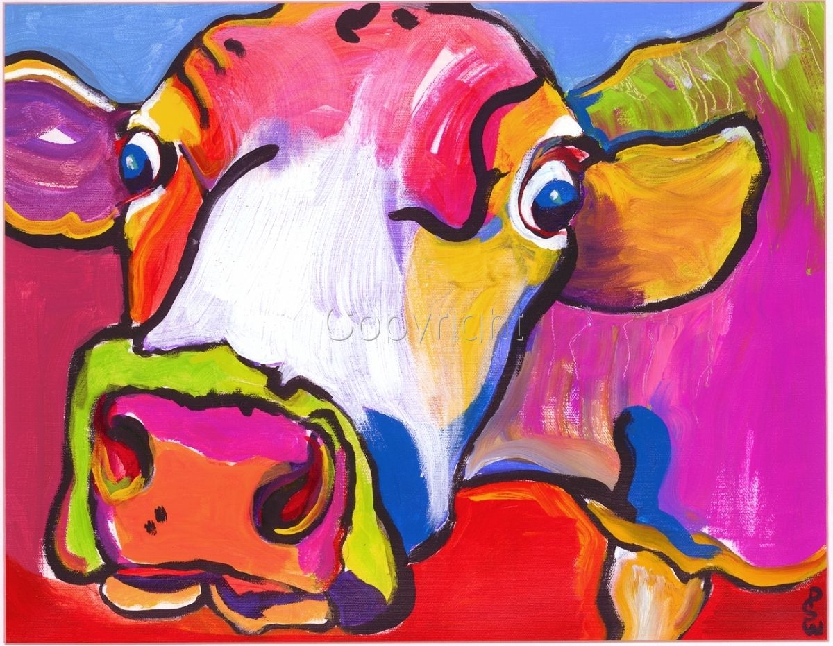 Animal Colorful Attitudes Pat Saunders White Animals Pet Portraits Brightly Colored Paintings