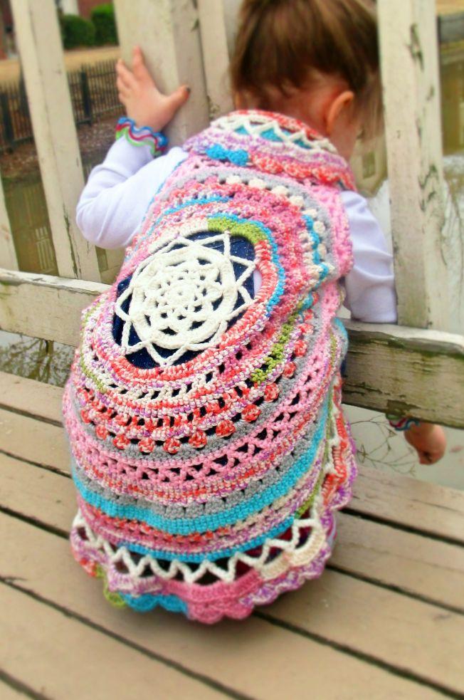 Boho Crochet Circle Vest- Free Pattern | Hobbies & Hugs | Crocheting ...