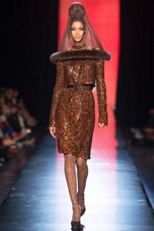 Jean Paul Gaultier Brown Sequin Dress