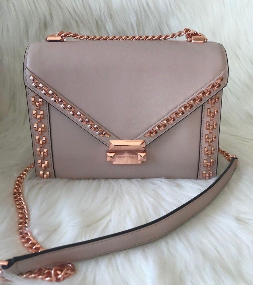 Michael Kors Whitney Large Leather Stud Shoulder Bag Soft