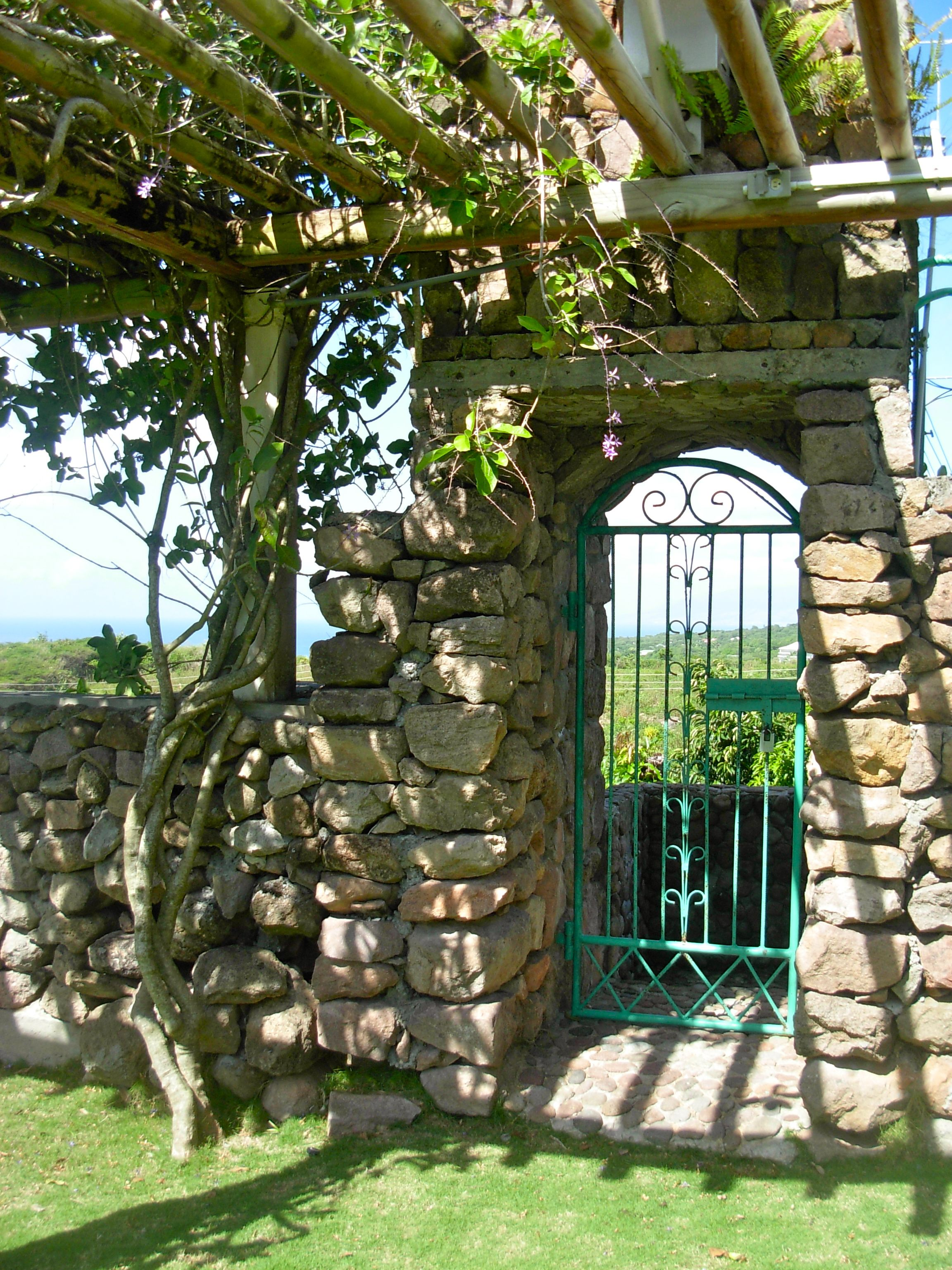 Garden Gate And Arbor