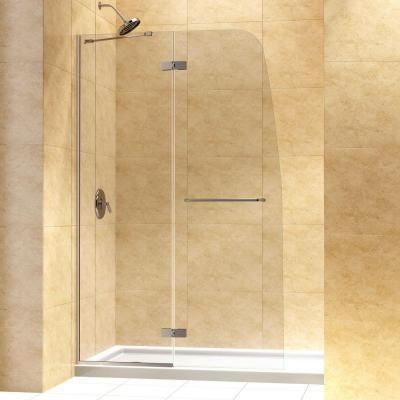Dreamline Aqua Ultra 45 In X 72 In Semi Frameless Hinged Shower