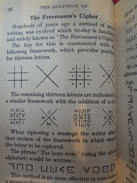 The Freemason's Cipher from a book on codes and ciphers by
