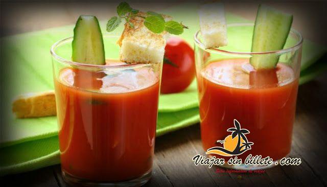 Receta del autentico y tradicional gazpacho andaluz - ViajarSinBillete.com
