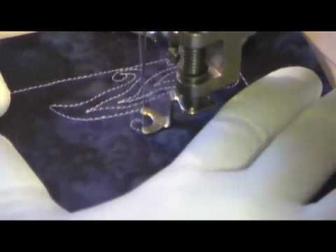 Free Motion Quilting Video - Spiral Tree - YouTube