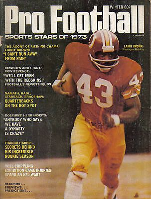 1973 Sports Stars Pro Football Magazine Larry Brown Washington Redskins 2e1a63de4