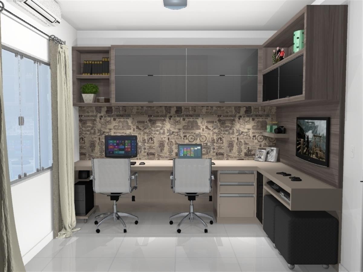 Preferência estudos escritorio home office - Galeria de Projetos Promob  WW67