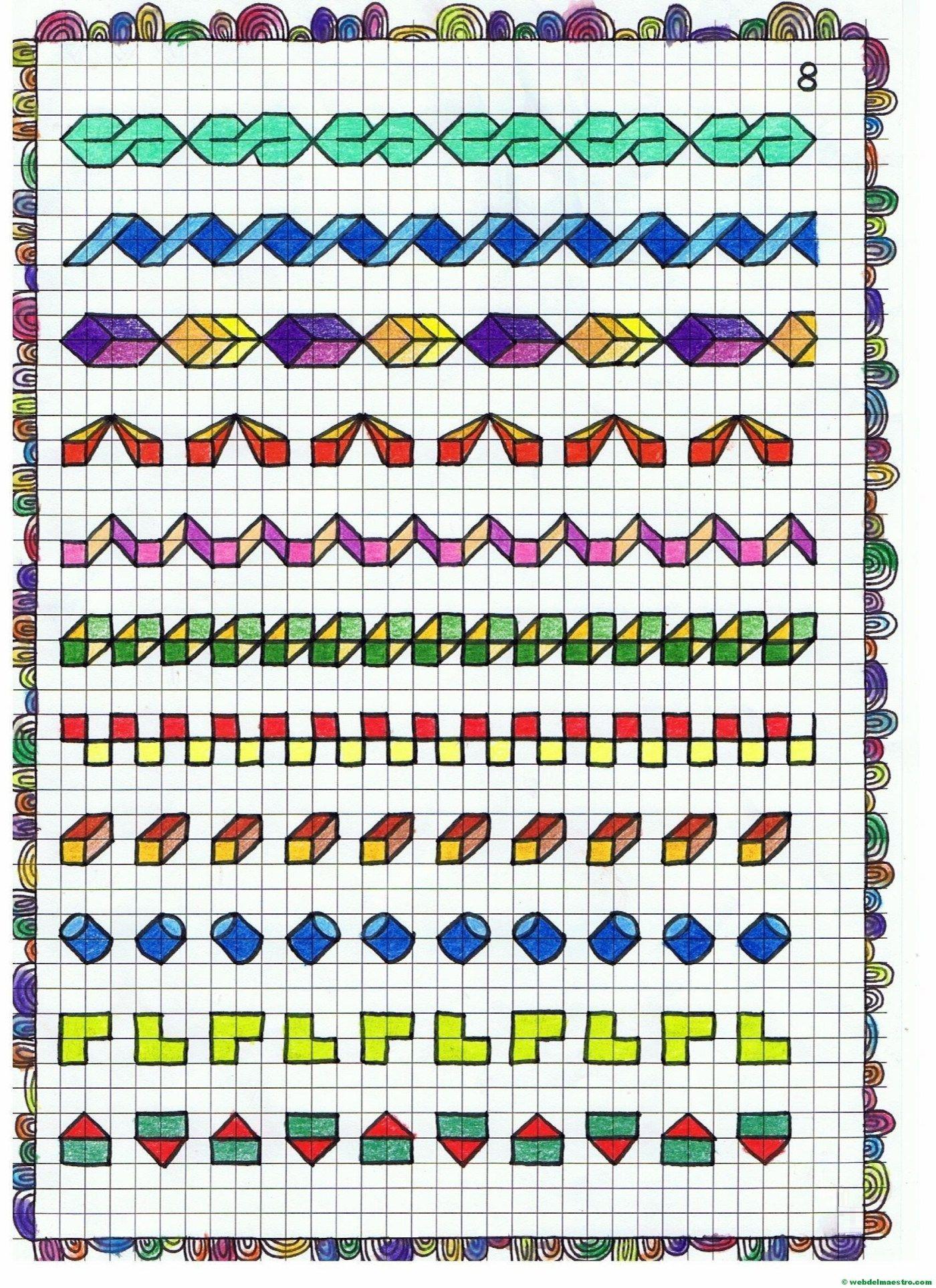 Cenefas - dibujos en cuadrícula para imprimir - Web del