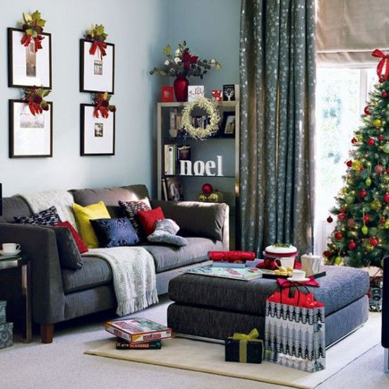 Cool Trends Christmas Living Room Decorations Ideas 2012 Favorite