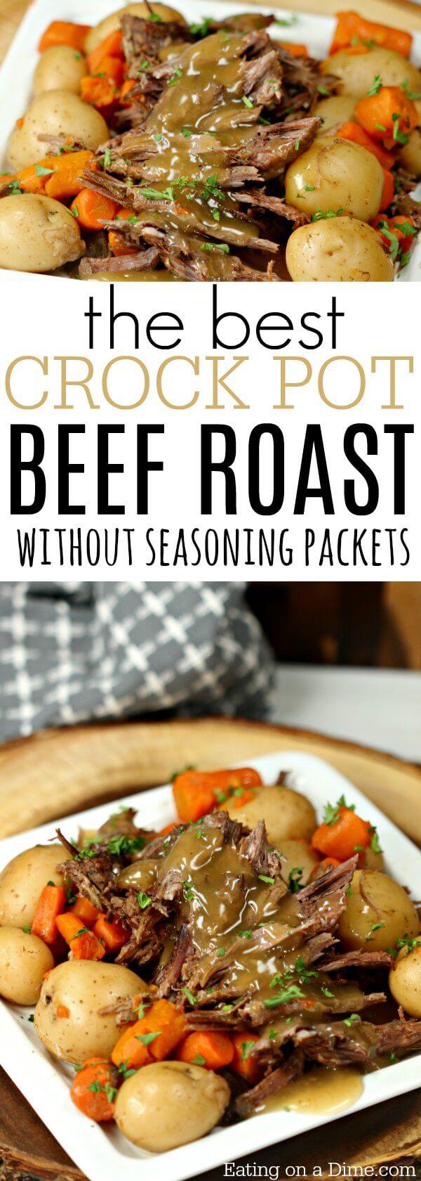 The Best Crock pot Roast Recipe - Easy Crock Pot Roast Recipe
