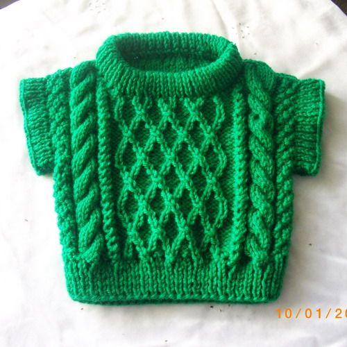 Treabhair - PDF knitting pattern for baby or toddler cable sweater ...