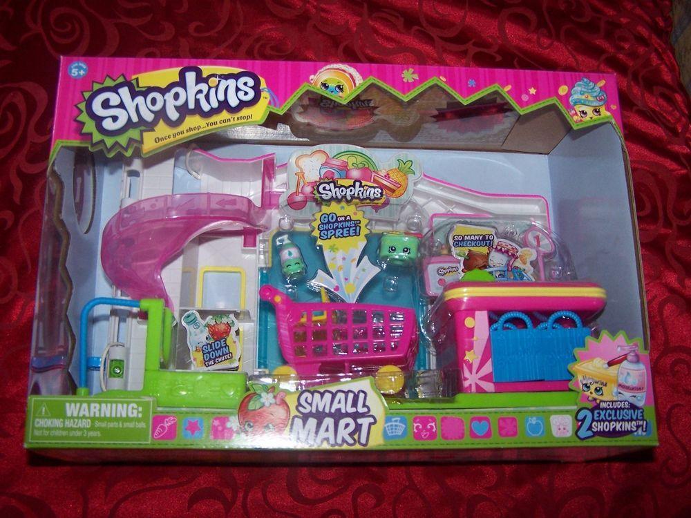 Kid Play Set Shopkins Shopping Market Trolley Toy