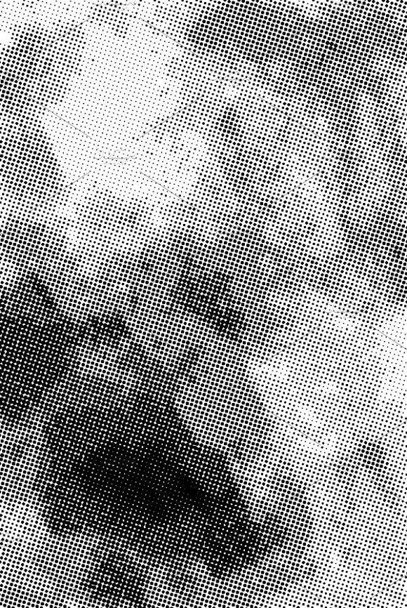 Vintage Grunge Halftone Ink Print Texture Graphic Design Screentone Overlays