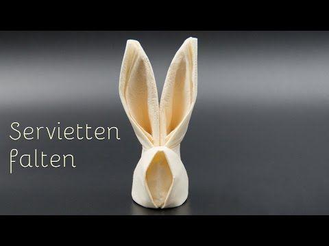 Basteln zu Ostern / Osterhasen aus Servietten falten - einfach #serviettenfalteneinfach