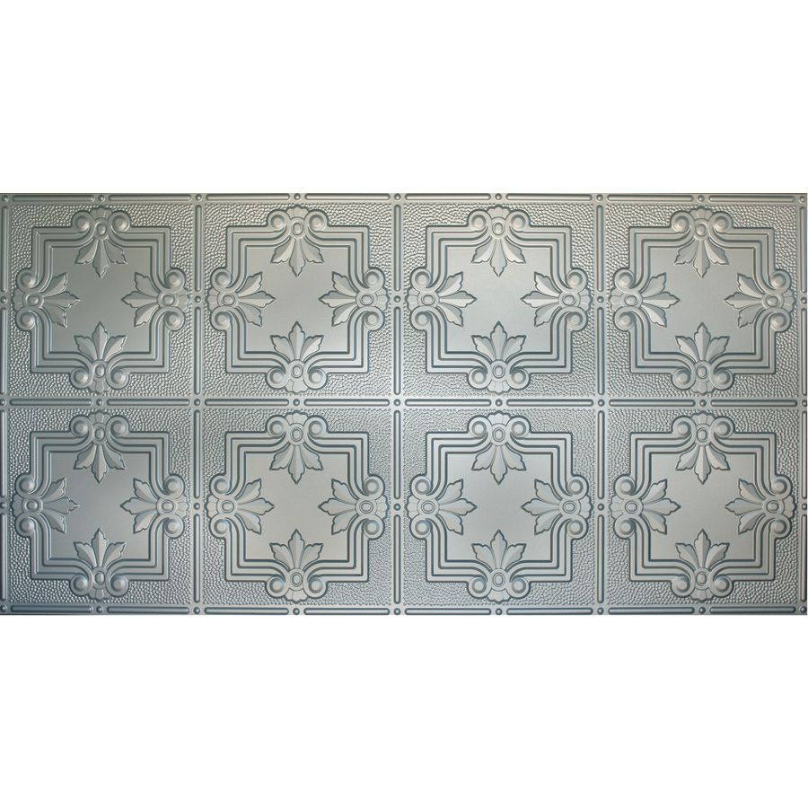 Dimensions nickel faux tin surface mount ceiling tiles common 48 dimensions nickel faux tin surface mount ceiling tiles common 48 in x dailygadgetfo Gallery