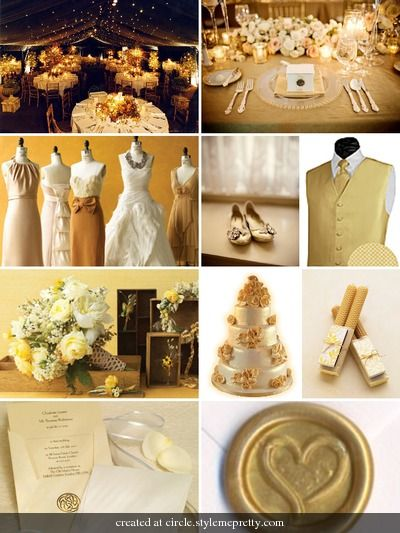 Examples Of Wedding Colorscream Yellow And Blacktogether