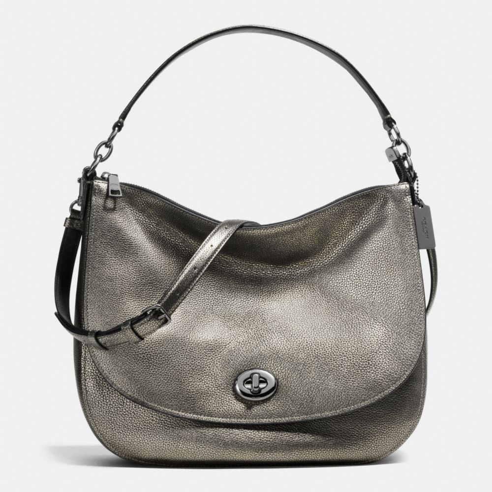 a6281a3798c7 COACH Turnlock Hobo in Pebble Leather.  coach  bags  shoulder bags  hand  bags  leather  hobo  lining