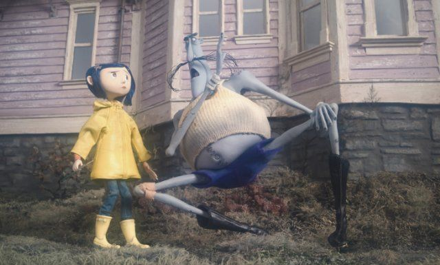 Easiest Costume Ever Already Have The Blue Hair Just Need A Yellow Rain Coat And Yellow Rain Boots Coraline Coraline Aesthetic Coraline Jones