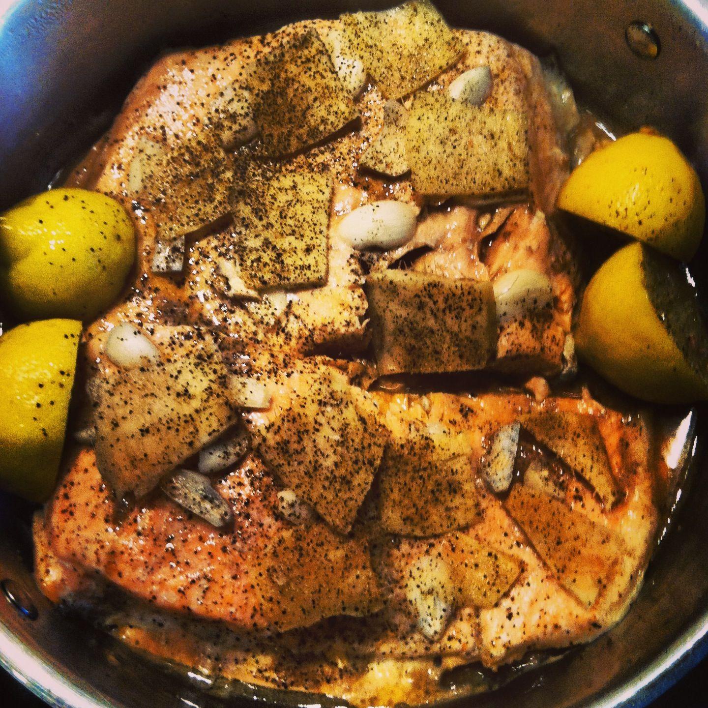 Simplest Salmon Recipe - Gingery/Lemon Salmon on the stove ...