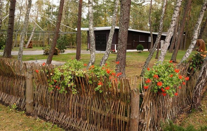 Upright Wattle Fence In Lithuania I Bet Those Sticks Poking Up Climbing For Anyone That