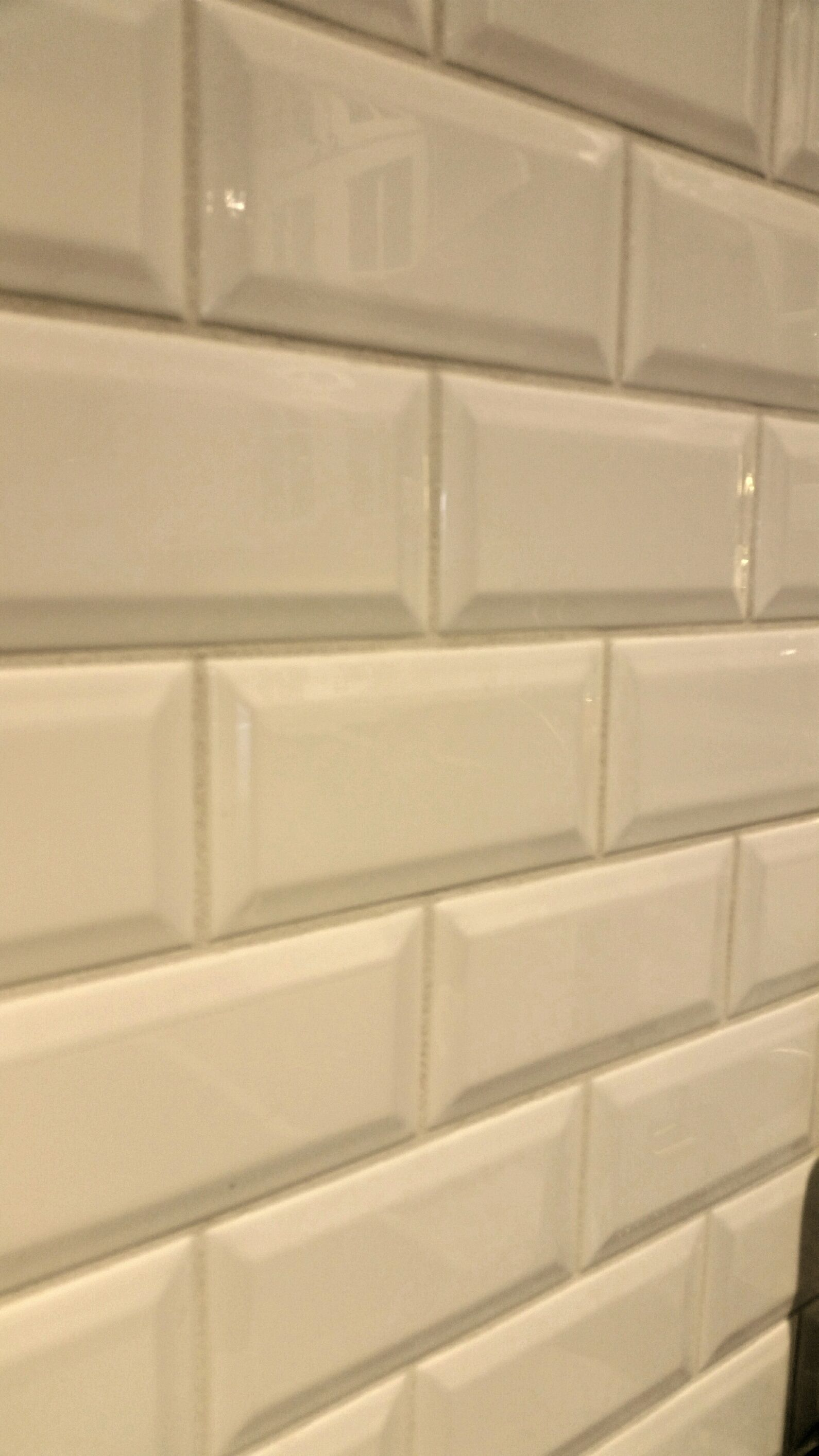 It S Jewelry For Your Kitchen Beveled Subway Backsplash Tile Http
