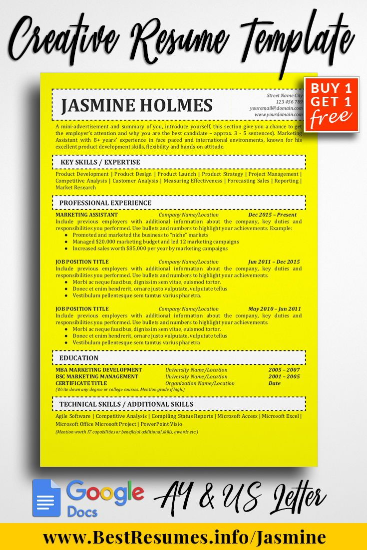Resume Template Jasmine Holmes  Resume Template Download Perfect