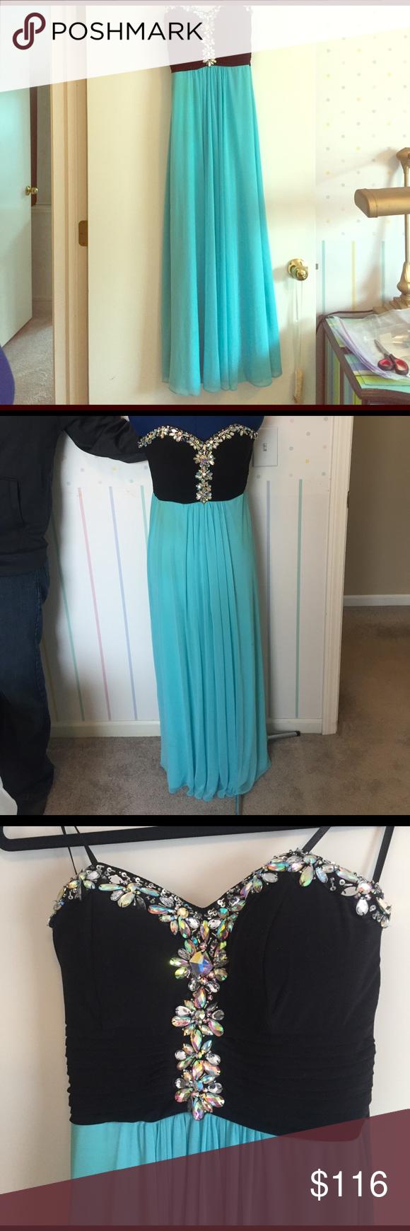 Purple floor length Blondie Nites prom dress | Dress prom, Prom and ...