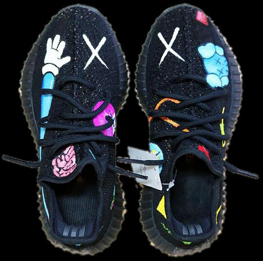 Indie Designs Custom Made Kaws x Yeezy 350 v2 | Men's shoes