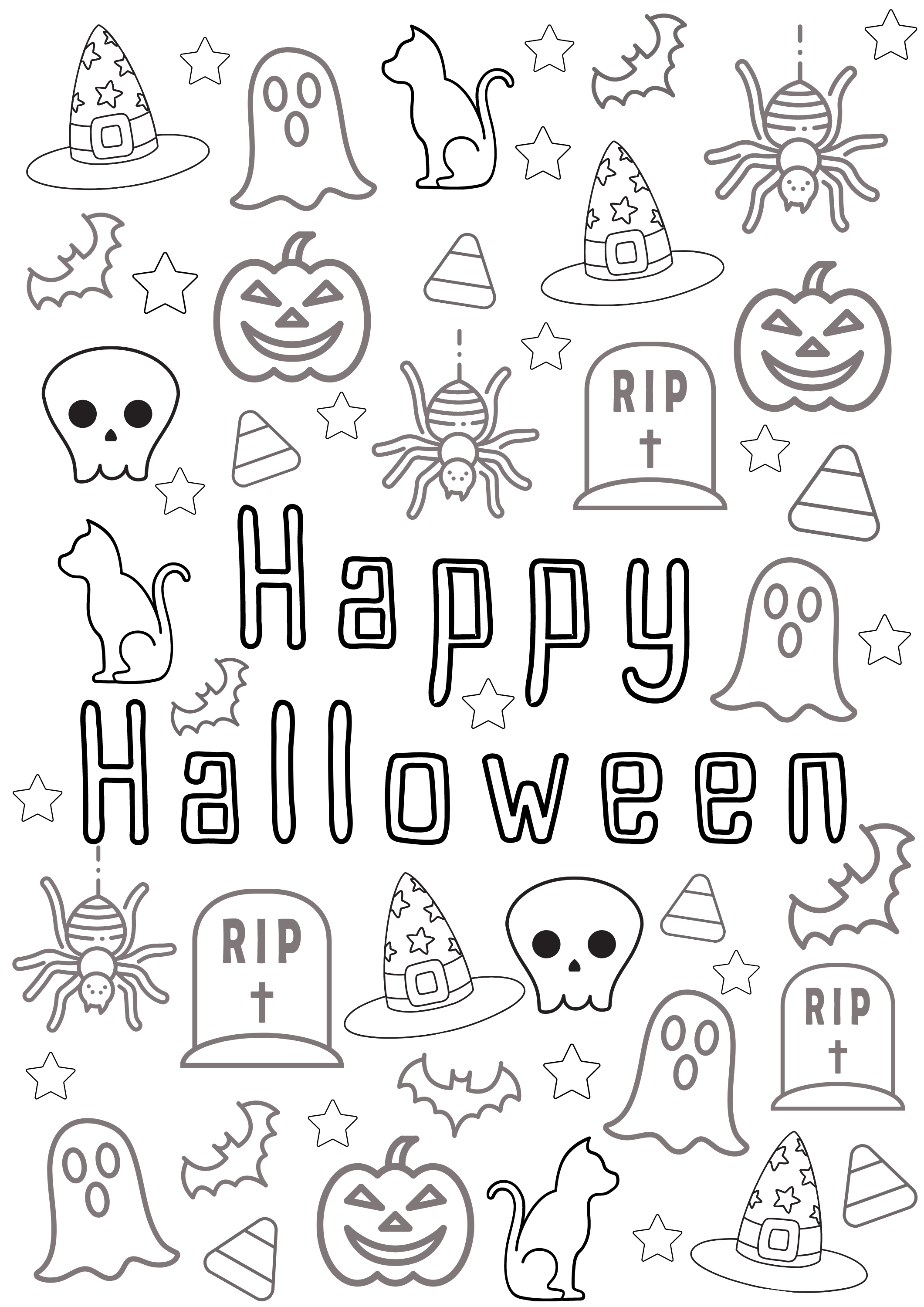 5 Halloween Colouring Sheets Diy Halloween Coloring Pages For Kids Printables Activities Halloween Party Instant Download In 2021 Halloween Coloring Halloween Coloring Pages Halloween Coloring Sheets