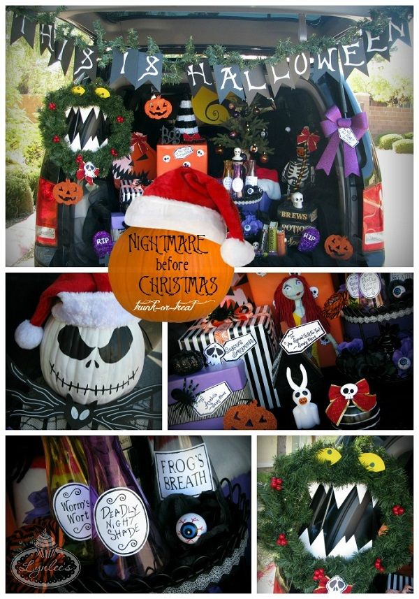 Get craft and decorating ideas for your Nightmare Before Christmas - trunk halloween decorating ideas