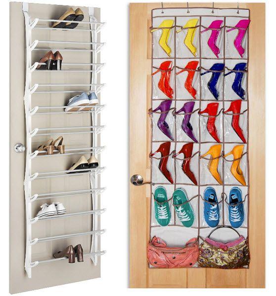 Accessories, Door Hanging Shoe Rack Good Picture White Brown Color Door  Nice Small Storage Picture Good Small Storage Picture Colorful Shoes  Picture: Create ...